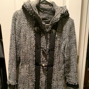 Grey and black knit coat very cute!!